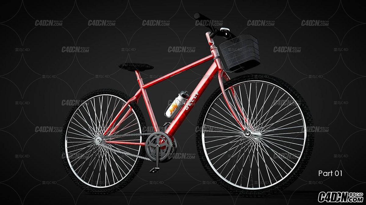 C4D精细自行车建模进阶教程