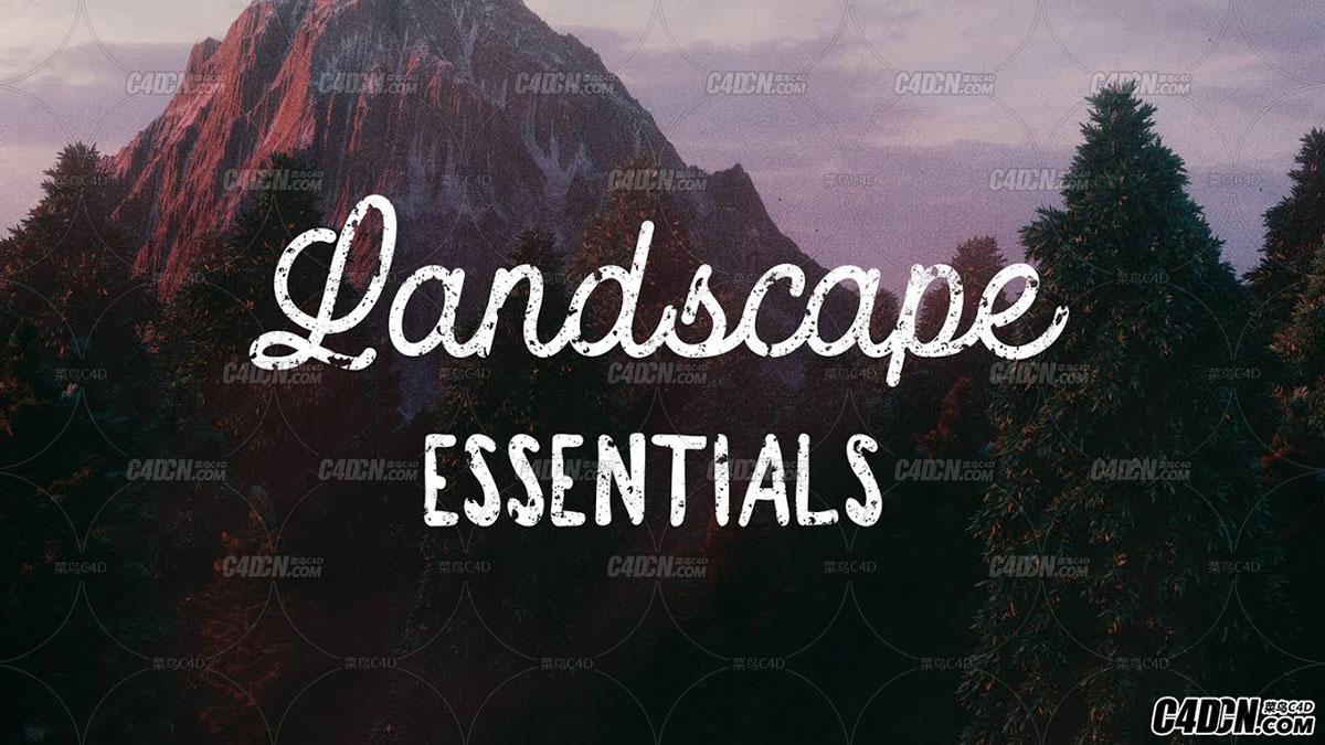 Landscape Essentials地形贴图(四组地形)
