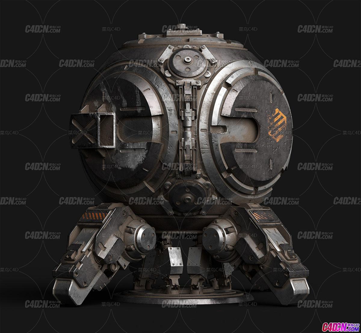 硬表面机械机甲机器组件零件C4D模型合集