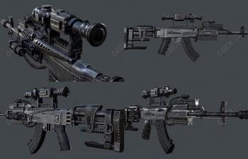 352种科幻未来战争武器3D模型合集