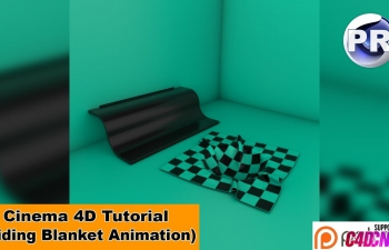 C4D教程 滑动的地毯MG风格动画教程 Sliding Blanket Animation (Cinema 4D Tutorial)