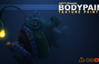 BodyPaint UV布局和纹理绘画教程cmiVFX BodyPaint UV Layout And Texture Painting
