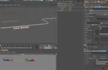 C4D动力学链条文字教程Creating Marvelous Motion Graphics with CINEMA 4D Class 215