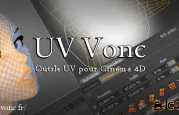 C4D展uv插件中英文汉化版CodeVonc VoncUV v1.0 for Cinema 4D